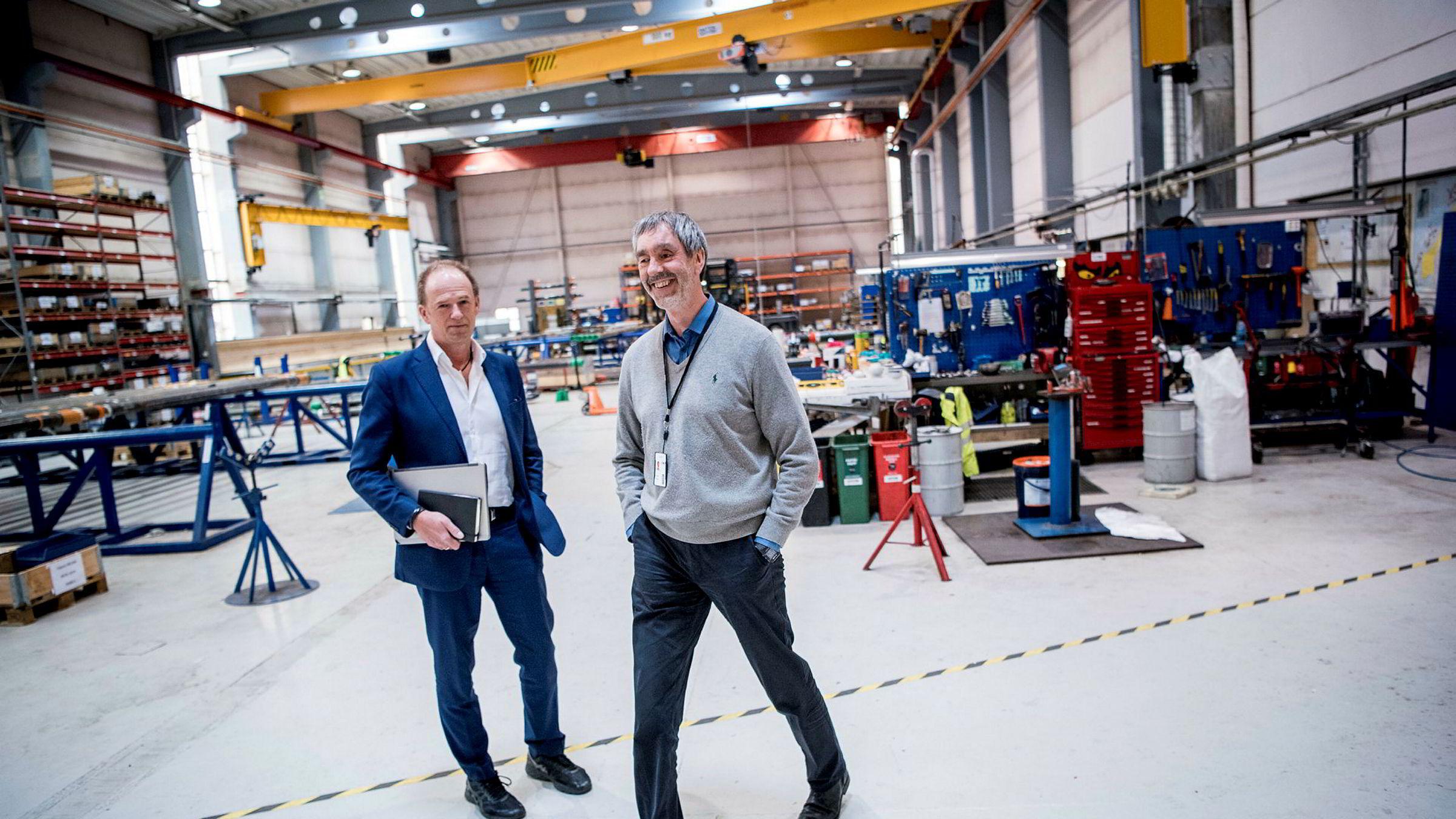 Jærbuene Helge Lunde og Torbjørn Hegdal fikk smake på oljesmellen. Nå tror de på milliardomsetning for selskapet Seabox.