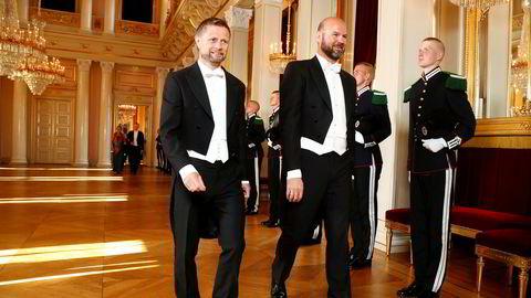 DNT er i trøbbel på grunn av regjeringens tiltak for å håndtere koronaviruset. Her er generalsekretær Dag Terje Solvang på slottet med ektemannen Bent Høie i 2018.