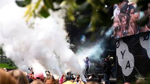 Rapgruppen Migos var blant opptredenene under Øyafestivalen i 2017.