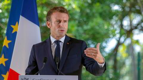 Frankrikes president Emmanuel Macron har vært skeptisk til å gi britene tre måneder til før de forlater EU. Arkivfoto: Fabrice Wislez / AP / NTB scanpix