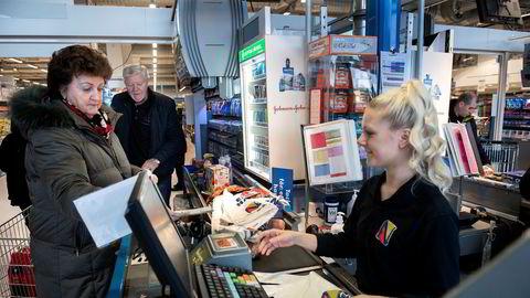 Her ved Nordby Supermarked selges dagligvarer for 1,2 milliarder kroner i året.