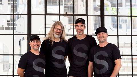 Gründerne bak selskapet Sanity har gjennomført sin første store eksternfinansiering. (Fra venstre: Even Westvang, Simen Svale Skogsrud, Magnus K. Hillestad og Øyvind Rostad)
