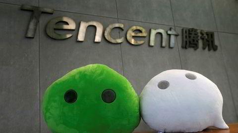 De kinesiske internettselskapene Alibaba og Tencent har rekordresultater og høy vekst. Over 800 millioner brukere er innom Tencents WeChat-tjeneste daglig – de fleste i Kina.