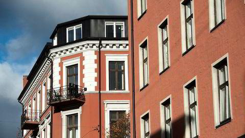 Boligprisene i Oslo gjorde et solid hopp i mai. Arkivfoto av leiligheter på Bislett.
