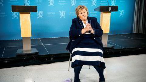 Også statsminister Erna Solberg har lastet ned Smittestopp.