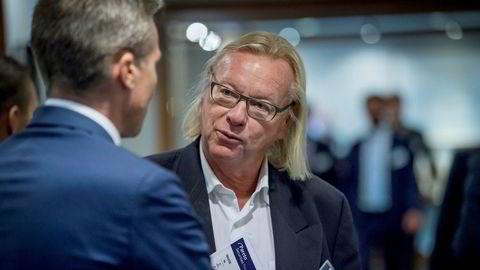 Investor Berge Gerdt Larsen (til høyre) skal selv vitne i saken mot Skatteetaten i oktober. Her med Helge Nordtorp, Pandion (t.v.) på Paretokonferansen 2019.