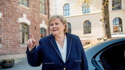 Statsminister Erna Solberg kan glede seg over at Høyre nå er Norges største parti.