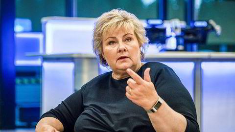 Statsminister Erna Solberg (H) kom ikke i mål med sine planer om færre og større kommuner.