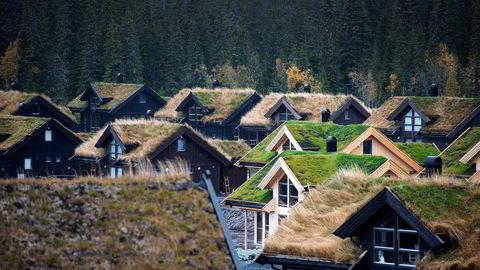 Flere nye hytter popper opp over hele Norge. Her fra utbyggingen av hyttefeltet Gutubakken på Sjusjøen.