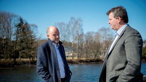 NHO-sjef Ole Erik Almlid og LO-leder Hans Christian Gabrielsen barker sammen i lønnsoppgjøret til høsten.