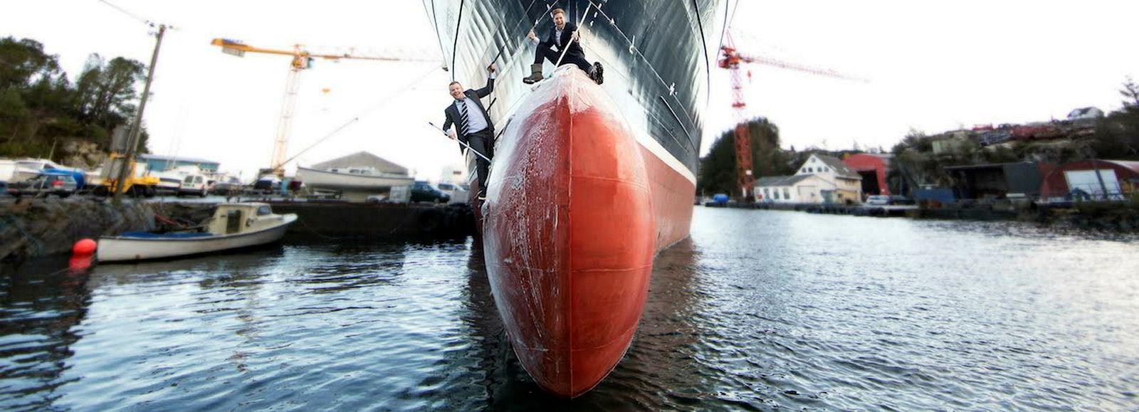 Gründeren Tor Østervold har i ti år jobbet med en løsning som samler det svært skitne vaskevannet fra skipsrengjøring.