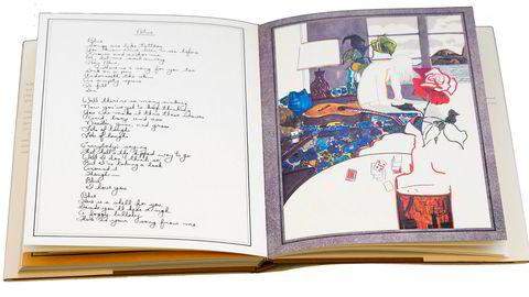 Tidenes julegave. I 1971 ga Joni Mitchell sine hundre nærmeste venner en tykk bok med tegninger og håndskrevne tekster. Nå er den vakkert gjengitt som salongbordutgivelsen «Morning Glory on the Vine».
