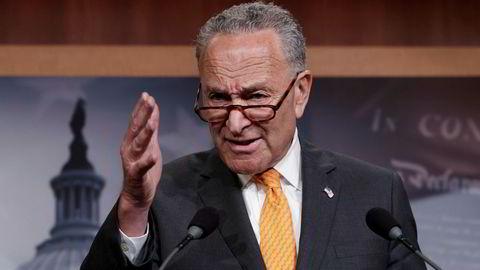 Demokratenes leder i Senatet Chuck Schumer vil vite hva som skjedde på det to timer lange møtet mellom Donald Trump og Vladimir Putin i Moskva.