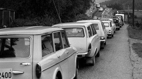 Bladet Aktuell fulgte veien E18 fra hovedstaden til Stavanger, sommeren 1969. I dag strekker E18 seg fra Ørje til Kristiansand.