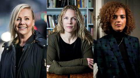 Både Åsne Seierstad (i midten) og Leïla Slimani (t.h.) er blitt beskyldt for å beskrive en koronahverdag som hverken den gjengse nordmann eller franskmann kan kjenne seg igjen i. Seierstad bidrar også i koronadagboken «30 dager i april 2020», med Linn Skåber (t.v.) som redaktør.
