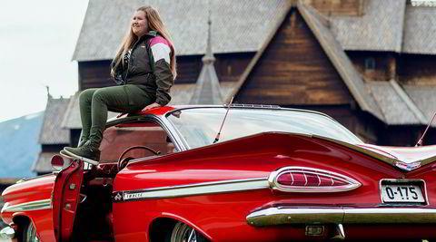 Mitt kjøretøy med Carra Kveum Leirflaten og hennes Chevrolet Impala.