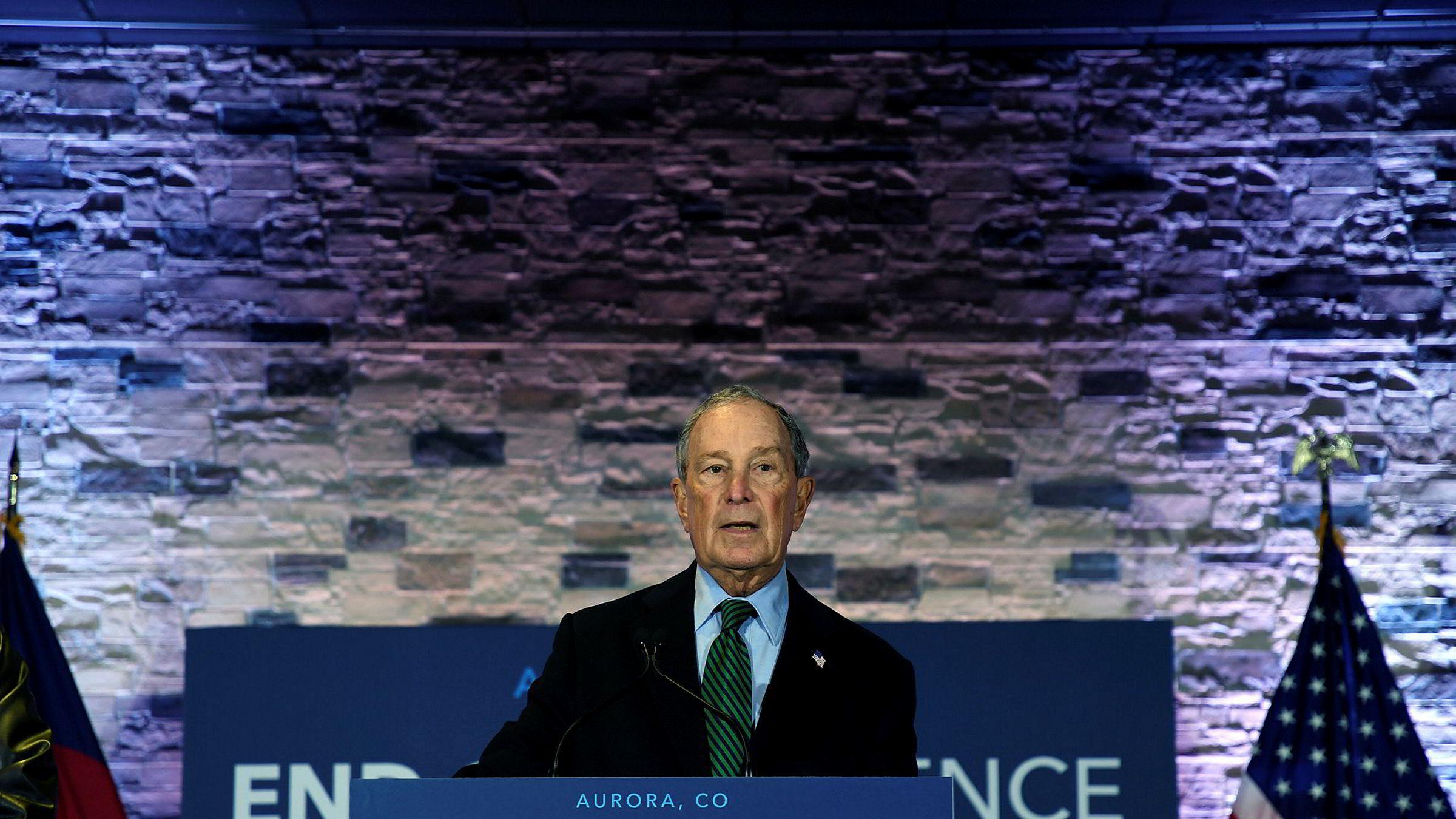 Milliardær Michael Bloomberg varslet at han vil gå inn for strengere våpenlover dersom han blir valgt til Demokratenes presidentkandidat ved neste års valg.