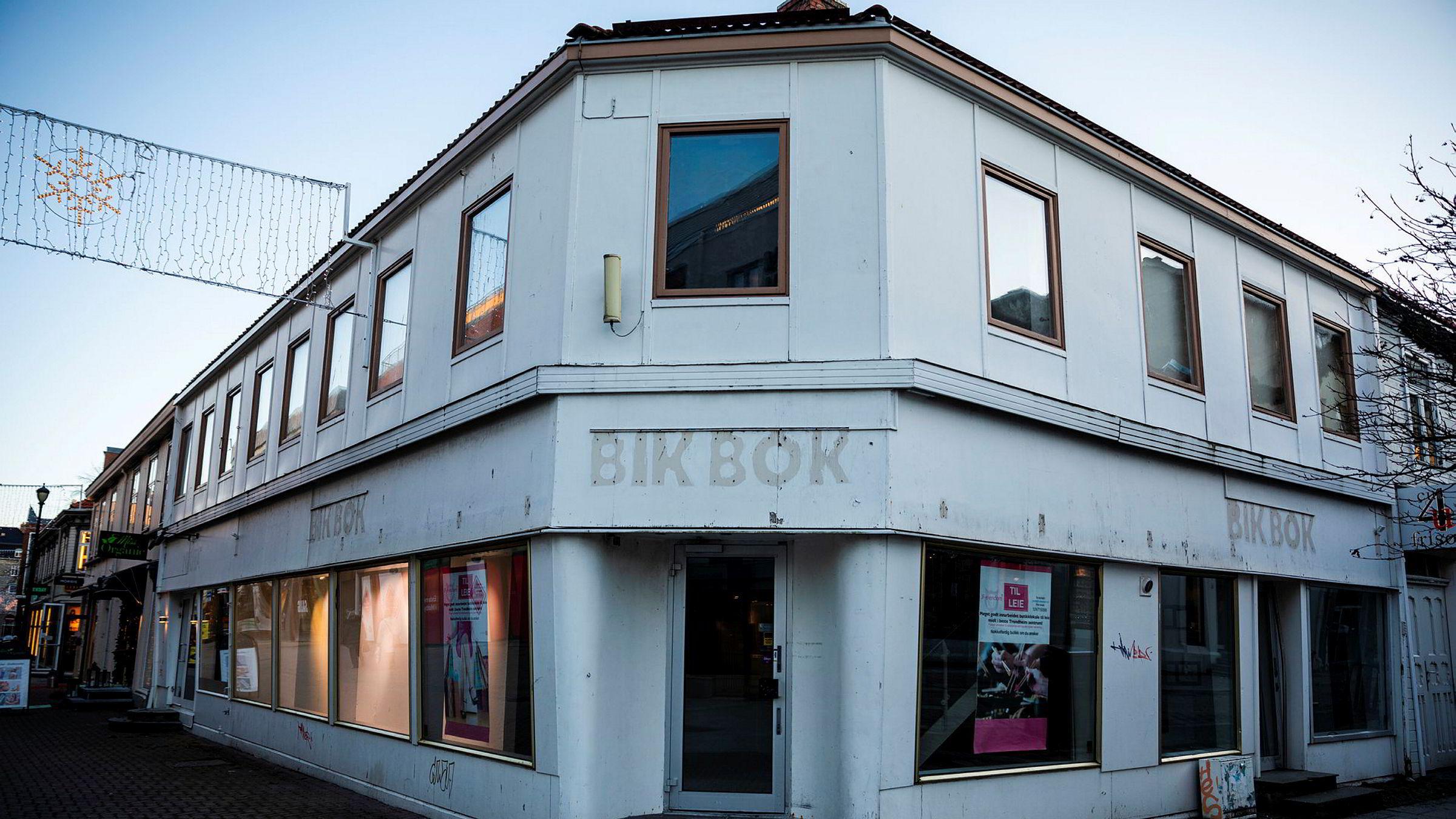 BikBok er en av Varner-kjedene som er hardest rammet av nedturen. Her fra et forlatt lokale i Trondheim sentrum.