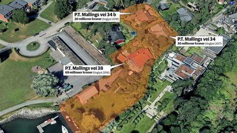 Nummer 34 og 38 i P.T. Mallings vei skal slås sammen, og hoveddelen ligge omtrent der nummer 38 ligger i dag, med en korridor tilbake til en mindre del, omtrent der nummer 34 ligger nå. Nummer 34B skal ifølge planen være en egen enhet på omtrent samme sted, men med kortenden mot havet