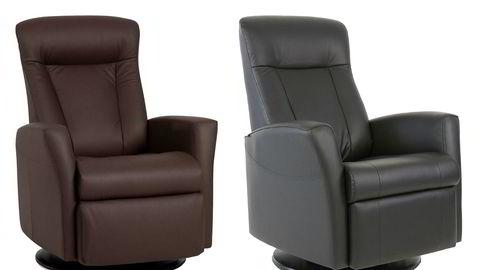 IMGs lenestol «Prince» har en ordinærpris på 6999 kroner og er nå på salg til 5999. Skeidar solgte stolen «Queen» til 5999 kroner, men har nå fjernet denne fra varehusene.