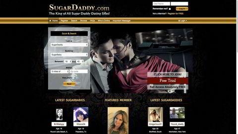Sugardaddy.com skriver selv at det er datingsiden for dem som finner velstående, suksessfulle menn attraktive.