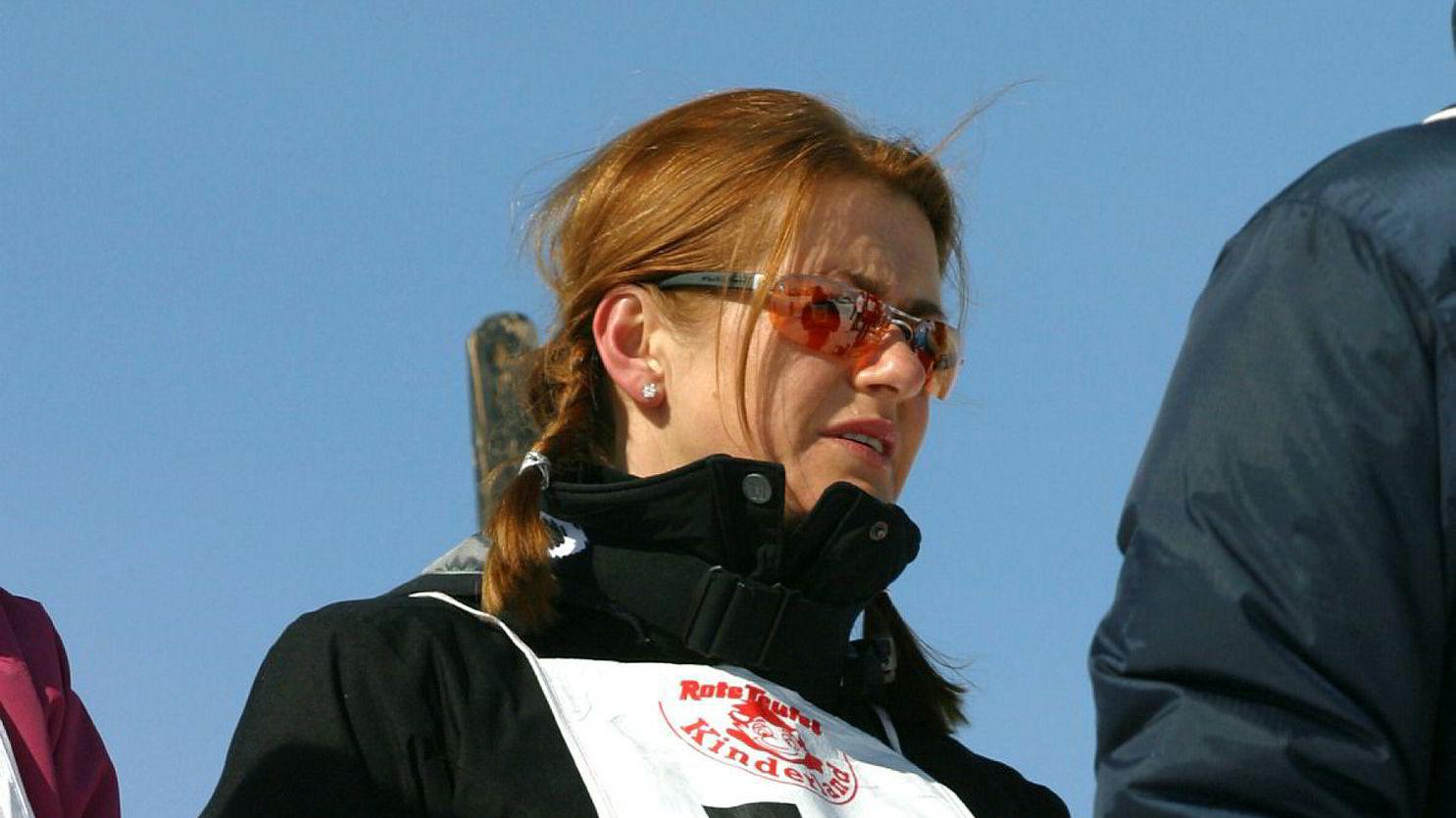 Styreleder Monica Staff er fornøyd med utviklingen i Resett. Her i skibakken i Kitzbühel i forbindelse med Orkla Enskildas årlige tur med investorer.