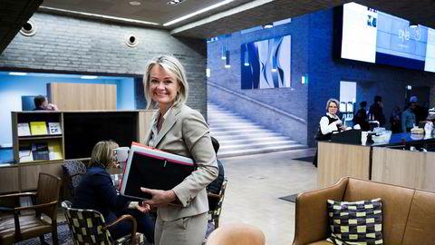 Ingjerd Blekeli Spiten er leder for personmarked i DNB, og merker at kundene er mer villig til å bytte bank under koronakrisen.