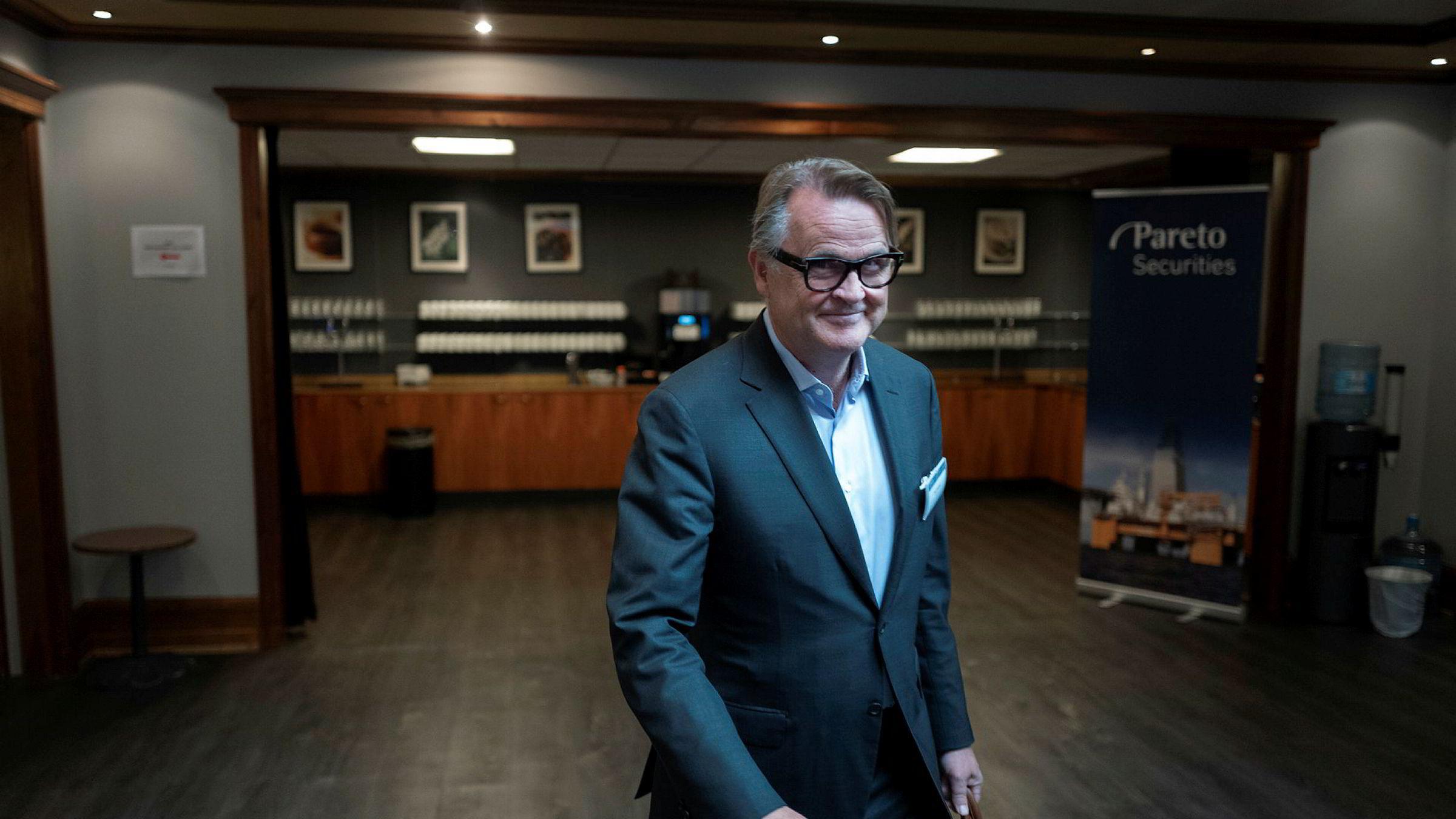 Styreleder Riulf Rustad trenger ikke uroe seg for svingningene i oljemarkedet.