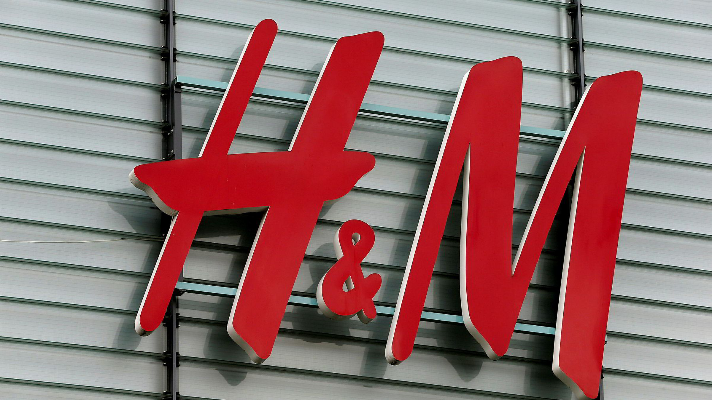 FILE PHOTO: The logo of Swedish fashion retail group H