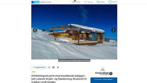 Kristian Monsen Røkke har kjøpt denne hytta i Hemsedal. Hytta ble lagt ut i slutten av februar, med en prisantydning på 19 millioner kroner.