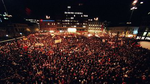 1. februar 2001 deltok over 40.000 mennesker i et fakkeltog i Oslo til minne om Benjamin Hermansen, som ble drept 26. januar samme år.