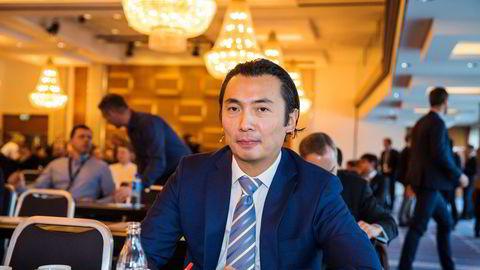 Storebrand-forvalter Olav Chen avbildet på Skagen-fondenes nyttårskonferanse i 2019.
