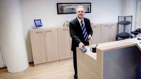 Per Sandberg gikk av som fiskeriminister i 2018. Her fra nøkkeloverrekkelsen til etterfølgeren, Harald Tom Nesvik.
