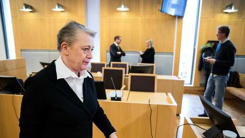Advokat Berit Reiss-Andersen representerer den tidligere regnskapssjefen i Gartnerhallen som har tilstått å ha underslått 49 millioner kroner fra selskapet. Her er hun under rettssaken i Oslo tingrett i begynnelsen av mars.