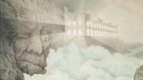 Trolsk. Det sene Theodor Kittelsen-motivet «Svælgfos» (1907) – en norsk klassiker – kombinerer kunstnerens livslange sans for troll og natur med industriens og næringslivets nye teknologiske verden.
