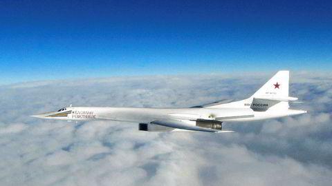 To russiske Tupolev Tu-160 fløy mandag langs hele norskekysten.