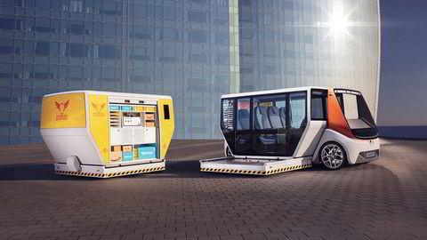 To for én. Fra varekiosk til helsekostsjappe eller minibuss på én, to, tre. Det er Rinspeed Metrosnap.
