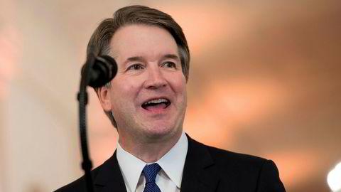 Brett Kavanaugh taler etter at Donald Trump har nominert ham som ny dommer i Høyesterett i USA.