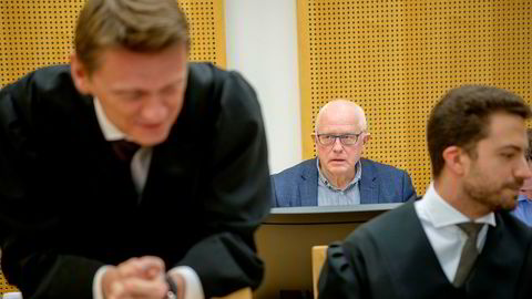 Fra bakerste benk følger gründer Harald Strand rettssaken i Oslo tingrett. Tirsdag rettet advokat Steffen Asmundsson, Strands advokat, kraftig kritikk mot Statoil. Kyrre Tangen Andersen (til høyre) representerer også Neodrill.