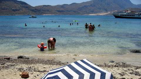 UD fraråder fortsatt alle utenlandsreiser. Bildet fra øya Gramvousa like utenfor Kreta tatt ved en tidligere anledning.