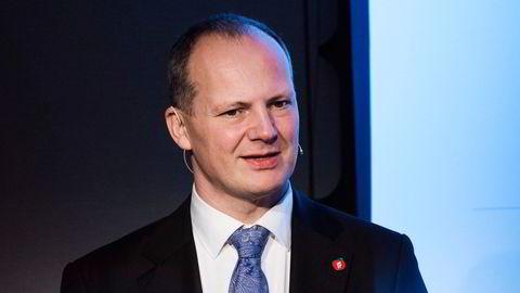 Tidligere samferdselsminister Ketil Solvik Olsen avbildet under en pressekonferanse hos Statkraft.