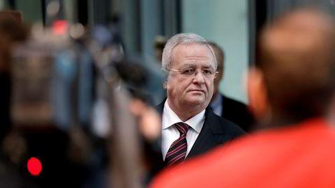Martin Winterkorn, tidligere toppsjef i VW. Her ankommer han en høring i den tyske Forbundsdagen i Berlin.