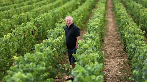 Etienne de Montille er nettopp ferdig med en rekordtidlig innhøsting i år.