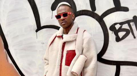 Joseph Junior Adenuga Jr, eller Skepta, er britisk grime-legende og i senere år også kleshest. Her på Louis Vuitton-visning under Paris Fashion Week i januar.