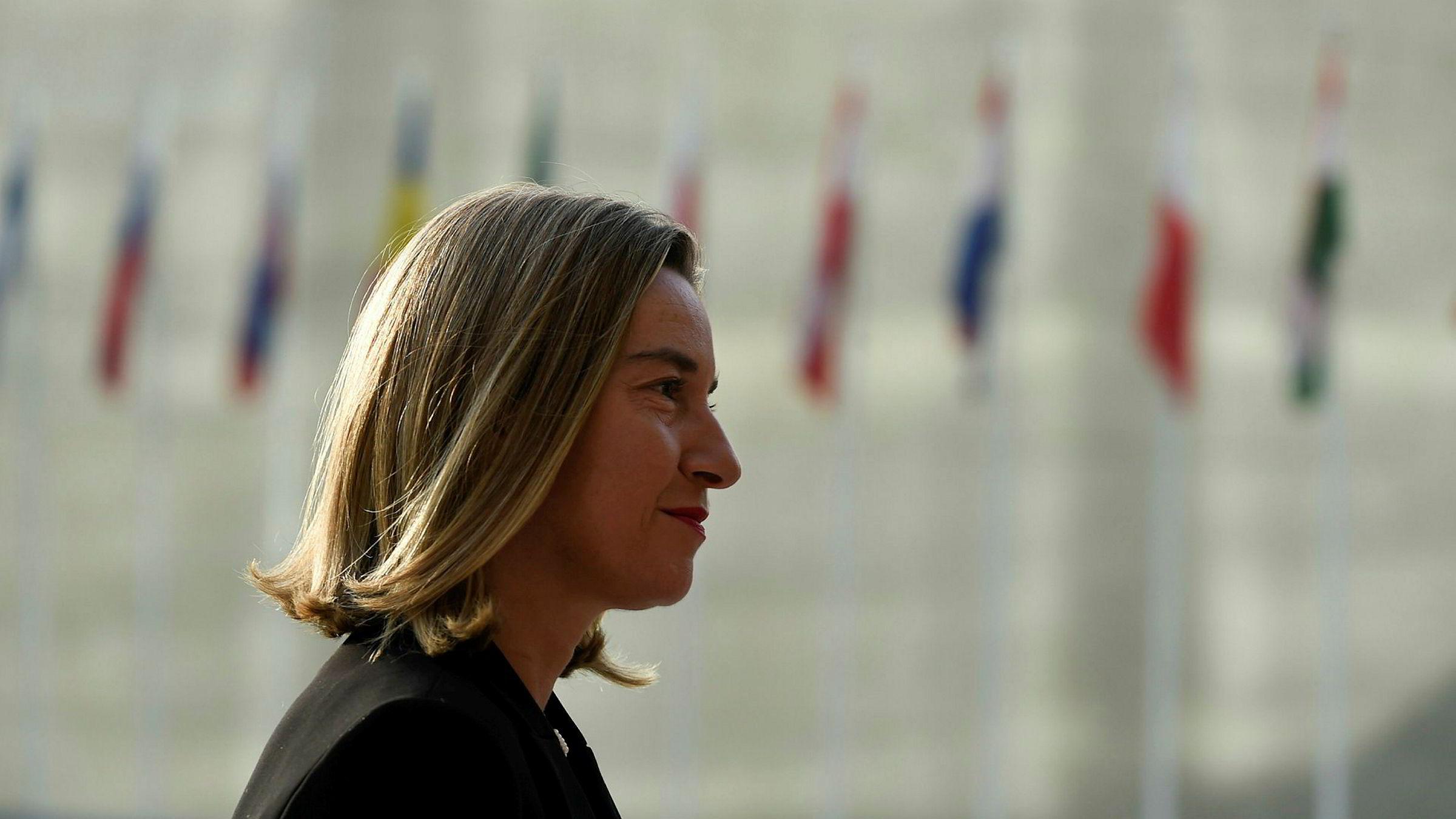 - Det er en avtale vi trenger for vår sikkerhet, sier EUs utenrikssjef Federica Mogherini.