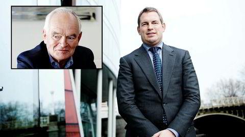 Sønnen Frederik W. Mohn tjener nå mer enn faren Trond Mohn (innfelt).
