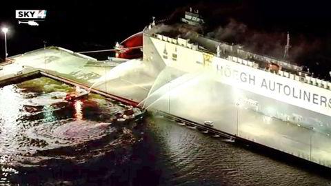 Brannen ombord på transportskipet Höegh Xiamen i juni.