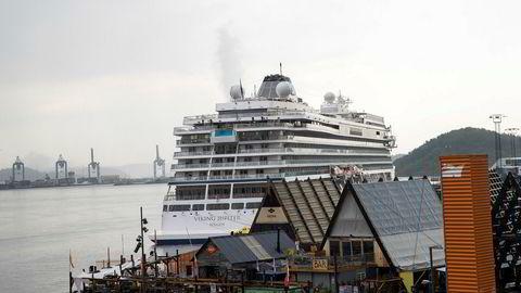 Revierkaia i Bjørvika blir den eneste som blir tilrettelagt for cruisetrafikk i Oslo, om byrådet får det som de vil. Foto: Terje Pedersen / NTB Scanpix