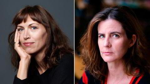 De franske forfatterne Vanessa Springora (til venstre) og Camille Kouchner utgis nå på norsk, med én ukes mellomrom.