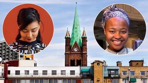 Grønland kirke kalles Østkantens katedral, og den urbane bykirken er også et utpreget bydelshus. Denne helgen arrangeres en frisinnet musikkfestival, med blant andre Sanskriti Shrestha (til venstre) og Nosizwe på programmet.
